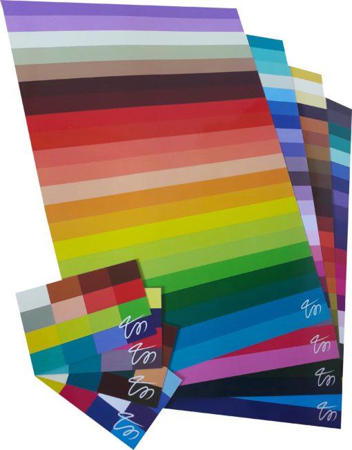színtípusok színkártyái